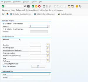 SUIM Auswertung Benutzer Kritische SAP Berechtigungen