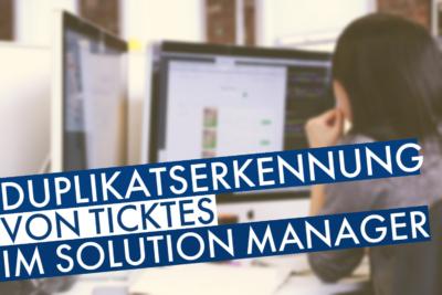 Duplikatserkennung im Solution Manager